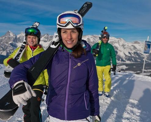 Skifahren auf der Planai